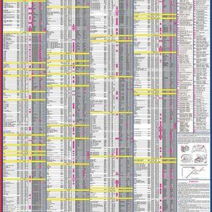 Автомобильные кондиционеры 2019  (рабочие жидкости и объемы), (настенный ламинированный плакат 51 марка производителей автомобилей, 830 моделей)